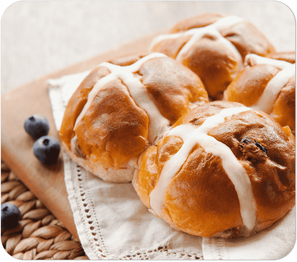 Golden Cloud Hot Cross Buns